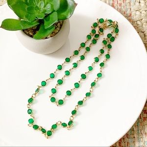 Two Sisters Vintage Crystal Link Necklace